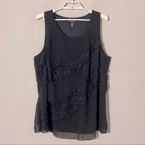 Lane Bryant Tiered Lace Layered Tank Top Sz 18